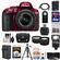 Nikon D5300 Digital SLR Camera & 18-55mm G VR DX II AF-S Zoom Lens (Red) with 64GB Card + Battery + Charger + Case + Tripod + Flash + Tele/Wide Lens Kit