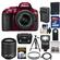 Nikon D5300 Digital SLR Camera & 18-55mm G VR DX II AF-S Zoom Lens (Red) with 55-200mm VR II Lens + 32GB Card + Battery & Charger + Case + Flash + Tripod + Kit