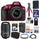 Nikon D5300 Digital SLR Camera & 18-55mm G VR DX II AF-S Zoom Lens (Red) with 55-300mm VR Lens + 32GB Card + Battery & Charger + Bag + Tripod + Kit