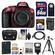 Nikon D5300 Digital SLR Camera Body (Red) with 64GB Card + Case + Flash + Battery & Charger + Tripod Kit