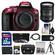Nikon D5300 Digital SLR Camera Body (Red) with 18-200mm VR II Zoom Lens + 32GB Card + Case + Battery + Tripod + Kit