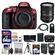 Nikon D5300 Digital SLR Camera Body (Red) with 18-200mm VR II Zoom Lens + 64GB Card + Case + Flash + Battery + Tripod + Kit