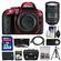 Nikon D5300 Digital SLR Camera Body (Red) with 18-300mm VR Zoom Lens + 32GB Card + Case + Battery + Tripod + Remote Kit