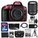 Nikon D5300 Digital SLR Camera Body (Red) with 18-140mm VR Zoom Lens + 32GB Card + Case + Battery + Tripod + Kit