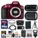 Nikon D5300 Digital SLR Camera Body (Red) with 18-140mm & 70-300mm VR Lens + 64GB Card + Case + Flash + Battery/Charger + Tripod Kit