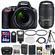Nikon D5500 Wi-Fi Digital SLR Camera & 18-140mm VR DX AF-S Lens (Black) with 55-300mm VR Lens + 64GB Card + Case + Battery & Charger + Flash + Tripod + Kit