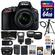 Nikon D5500 Wi-Fi Digital SLR Camera & 18-55mm G VR DX II AF-S Zoom Lens (Black) with 64GB Card + Case + Battery & Charger + Flash + Tripod + Wide/Tele Lenses + Kit