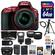 Nikon D5500 Wi-Fi Digital SLR Camera & 18-55mm G VR DX II AF-S Zoom Lens (Red) with 64GB Card + Case + Battery & Charger + Flash + Tripod + Wide/Tele Lenses + Kit