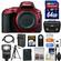 Nikon D5500 Wi-Fi Digital SLR Camera Body (Red) with 64GB Card + Case + Battery & Charger + Flash + Tripod + Kit