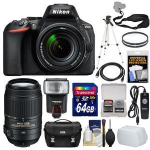 nikon d5600 wi fi digital slr camera 18 140mm vr dx af s lens with 55 300mm vr lens 64gb. Black Bedroom Furniture Sets. Home Design Ideas