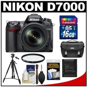 Nikon D7000 Digital SLR Camera &amp; 18-105mm VR DX AF-S Zoom Lens with 16GB Card + Filter + Case + Tripod + Accessory Kit