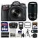Nikon D7100 Digital SLR Camera & 18-140mm VR DX Lens (Black) with 70-300mm VR Lens + 64GB Card + Case + Flash + Battery + Tripod + Filters Kit
