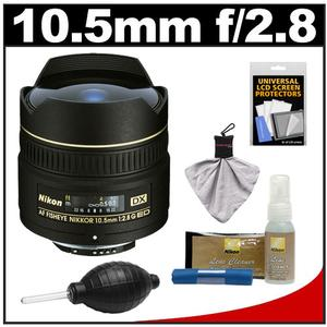Nikon 10.5mm f-2.8G ED DX AF Fisheye-Nikkor Lens with Cleaning and Accessory Kit