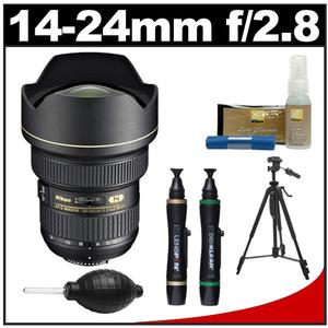 Nikon 14-24mm f-2.8G AF-S ED Zoom-Nikkor Lens with Tripod + Accessory Kit