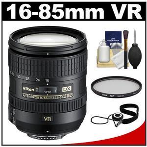Nikon 16-85mm f/3.5-5.6 G VR DX AF-S ED Zoom-Nikkor Lens with Filter + CapKeeper + Cleaning Kit