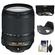 Nikon 18-140mm f/3.5-5.6G VR DX ED AF-S Nikkor-Zoom Lens with 3 UV/CPL/ND8 Filters + Hood + Accessory Kit