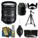 Nikon 18-200mm f/3.5-5.6G VR II DX ED AF-S Nikkor-Zoom Lens with Tripod + 3 UV/FLD/CPL Filters + Cleaning Kit