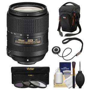 Nikon 18-300mm f-3.5-6.3G VR DX ED AF-S Nikkor-Zoom Lens with Case + 3 UV-CPL-ND8 Filters + Kit