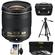 Nikon 28mm f/1.8G AF-S Nikkor Lens with Nikon Case + 3 UV/ND8/CPL Filters + Tripod + Cleaning Kit