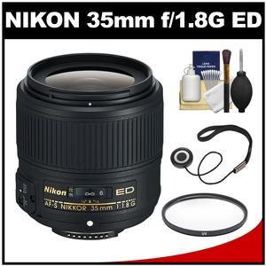 Nikon 35mm f/1.8G AF-S ED Nikkor Lens with Filter Accessory Kit