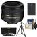 Nikon 50mm f/1.4G AF-S Nikkor Lens with EN-EL14 Battery + 3 UV/CPL/ND8 Filters + Tripod + Cleaning Kit