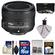 Nikon 50mm f/1.8G AF-S Nikkor Lens with 16GB SD Card + 3 UV/CPL/ND8 Filters + Accessory Kit