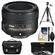 Nikon 50mm f/1.8G AF-S Nikkor Lens with Nikon Case + 3 UV/CPL/ND8 Filters + Tripod + Cleaning Kit