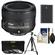 Nikon 50mm f/1.8G AF-S Nikkor Lens with EN-EL14 Battery + 3 UV/CPL/ND8 Filters + Tripod + Cleaning Kit