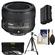 Nikon 50mm f/1.8G AF-S Nikkor Lens with EN-EL15 Battery + 3 UV/CPL/ND8 Filters + Tripod + Cleaning Kit