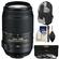 Nikon 55-300mm f/4.5-5.6G VR DX AF-S ED Zoom-Nikkor Lens with Sling Backpack + 3 UV/CPL/ND8 Filters + Cleaning Kit