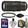 Nikon 70-200mm f/4G VR AF-S ED Nikkor-Zoom Lens with UV Filter + 64GB SD Card + Kit