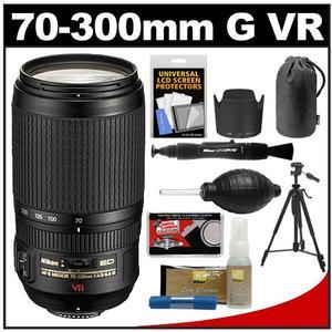 Nikon 70-300mm f/4.5-5.6 G VR AF-S ED-IF Zoom-Nikkor Lens with Case + Tripod + Cleaning Kit