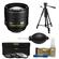 Nikon 85mm f/1.4 G AF-S Nikkor Lens with 3-Piece Filter Set + Tripod + Cleaning Accessory Kit