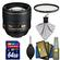 Nikon 85mm f/1.4 G AF-S Nikkor Lens with UV Filter + 64GB SD Card + Kit