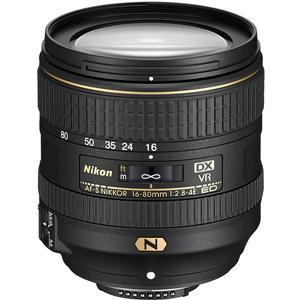Nikon 16-80mm f-2.8-4E VR DX AF-S ED Zoom-Nikkor Lens - Refurbished includes Full 1 Year Warranty