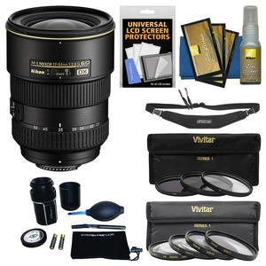 Nikon 17-55mm f-2.8 G DX AF-S ED-IF Zoom-Nikkor Lens with 3 UV-CPL-ND8 and 4 Macro Filter Set + Sling Strap + Kit