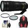 Nikon 200-500mm f/5.6E VR AF-S ED Nikkor Zoom Lens with Backpack Case + Filters + Kit