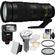 Nikon 200-500mm f/5.6E VR AF-S ED Nikkor Zoom Lens with iTTL Flash + Diffuser + Soft Box + Filters + Kit
