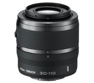 Nikon 1 30-110mm f/3.8-5.6 VR Nikkor Lens (Black)