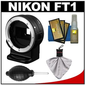 Nikon FT1 F-mount Lens Adapter for Nikon 1 J1  V1 Digital Cameras with Nikon Cleaning Kit