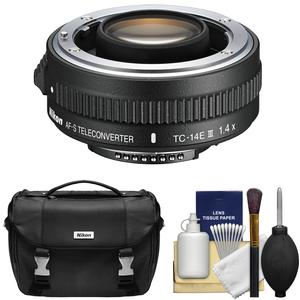 Nikon TC-14E III 1.4x AF-S Teleconverter with Nikon DSLR Camera Case + Cleaning Kit