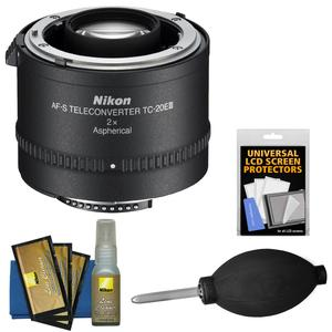 Nikon TC-20E III 2x AF-S Teleconverter with Screen Protectors and Blower and Cleaning Kit