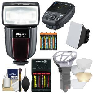 Nissin Digital Di700A Wireless Zoom Flash with Air 1 Commander Set - for Canon EOS E-TTL - with Soft Box + Diffuser Bouncer + Batteries and Charger + Kit