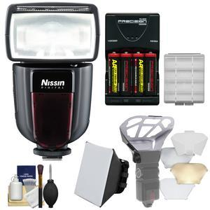 Nissin Digital Di700A Wireless Zoom Flash - for Nikon i-TTL - with Soft Box + Diffuser Bouncer + Batteries and Charger + Kit
