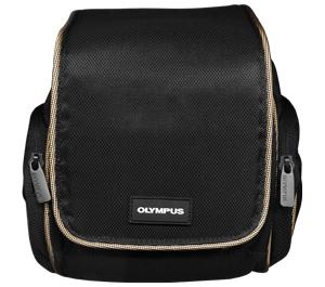 Olympus Nylon Digital Camera/Camcorder Case (Black with Tan Trim)