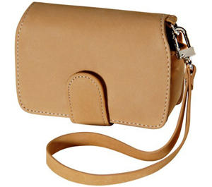 Olympus Premium Compact Leather Digital Camera Case (Camel)