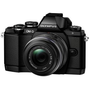 Olympus OM-D E-M10 Micro 4/3 Camera & 14-42mm II R Lens (Black) - Factory Refurbished