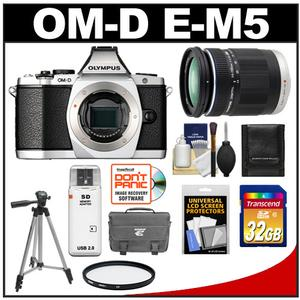 Olympus OM-D E-M5 Micro 4/3 Digital Camera Body (Silver) with M.Zuiko 14-150mm Zoom Lens + 32GB Card + Case + Tripod + Accessory Kit at Sears.com
