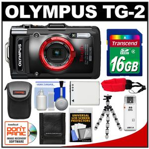 Olympus Tough TG-2 iHS Shock + Waterproof Digital Camera (Black) with 16GB Card + Case + Battery + Flex Tripod + Accessory Kit at Sears.com