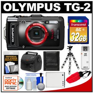 Olympus Tough TG-2 iHS Shock + Waterproof Digital Camera (Black) with 32GB Card + Case + Battery + Flex Tripod + Accessory Kit at Sears.com